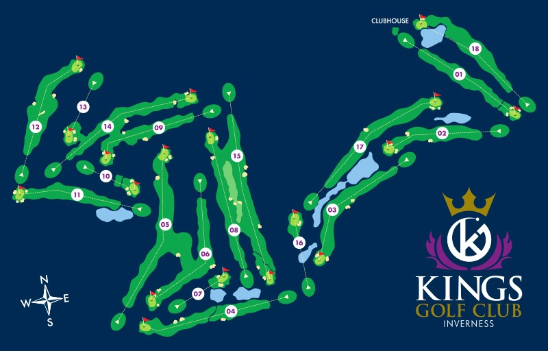 Kings Golf Club Inverness map