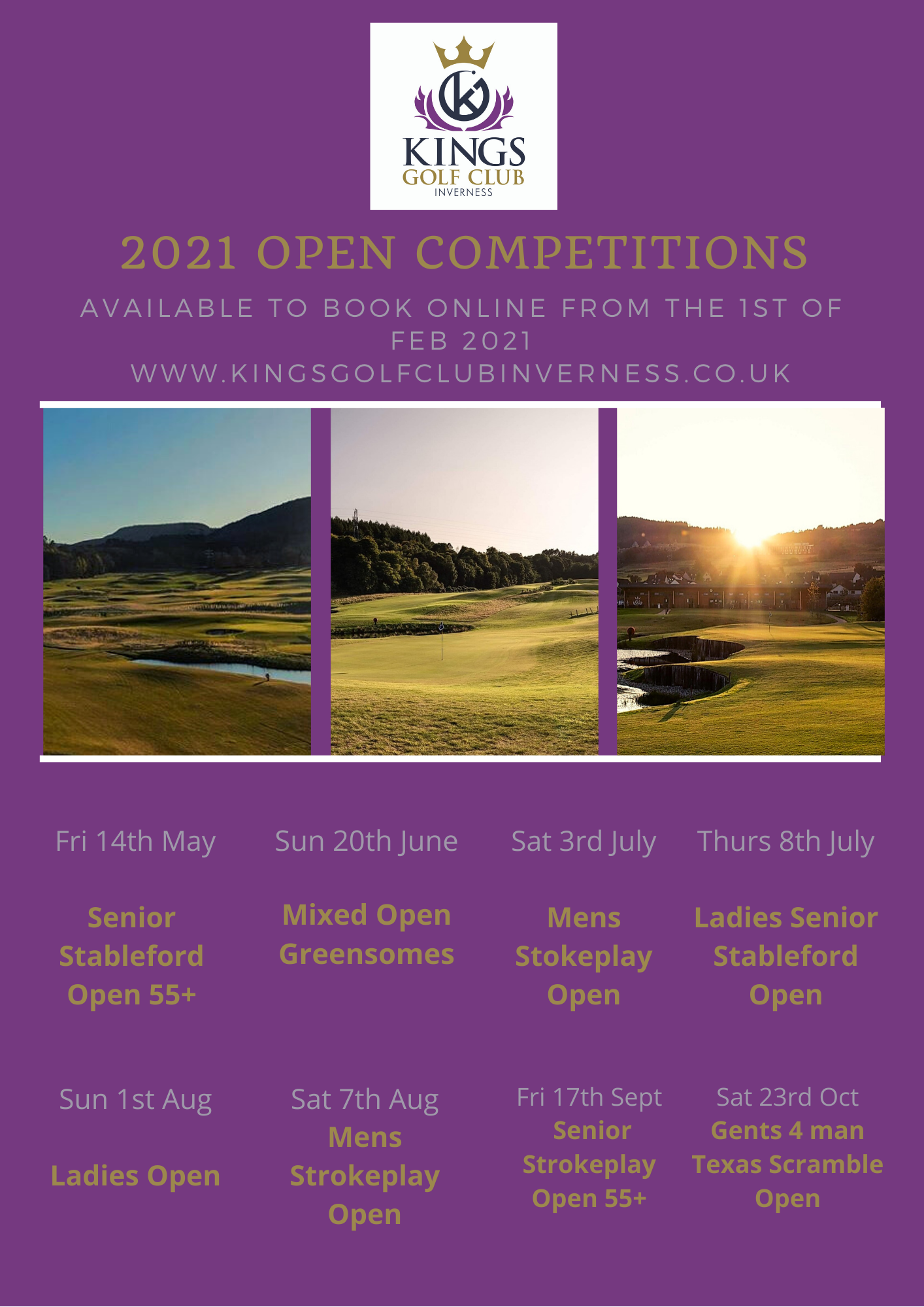 2021 Open Competitions Kings Golf Club Inverness