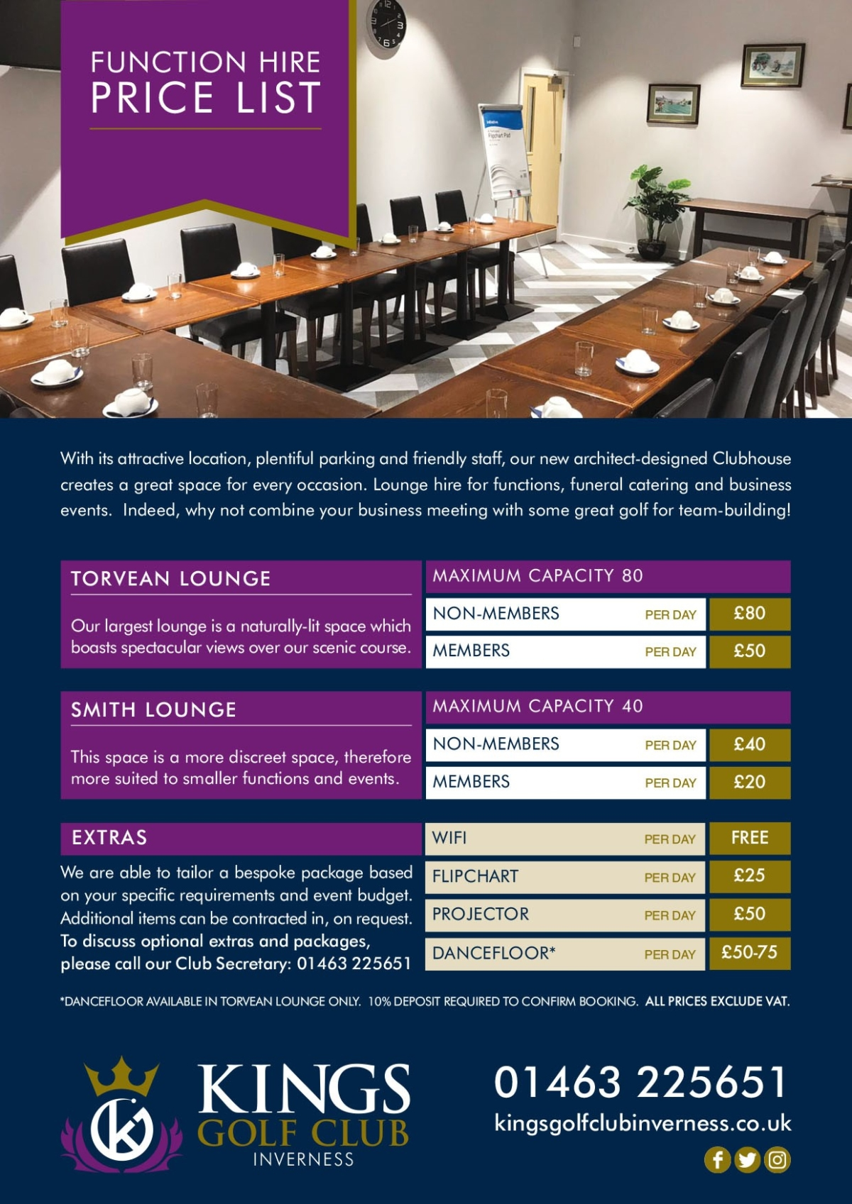 Function-Room-Hire at Kings Club Golf Course, Inverness