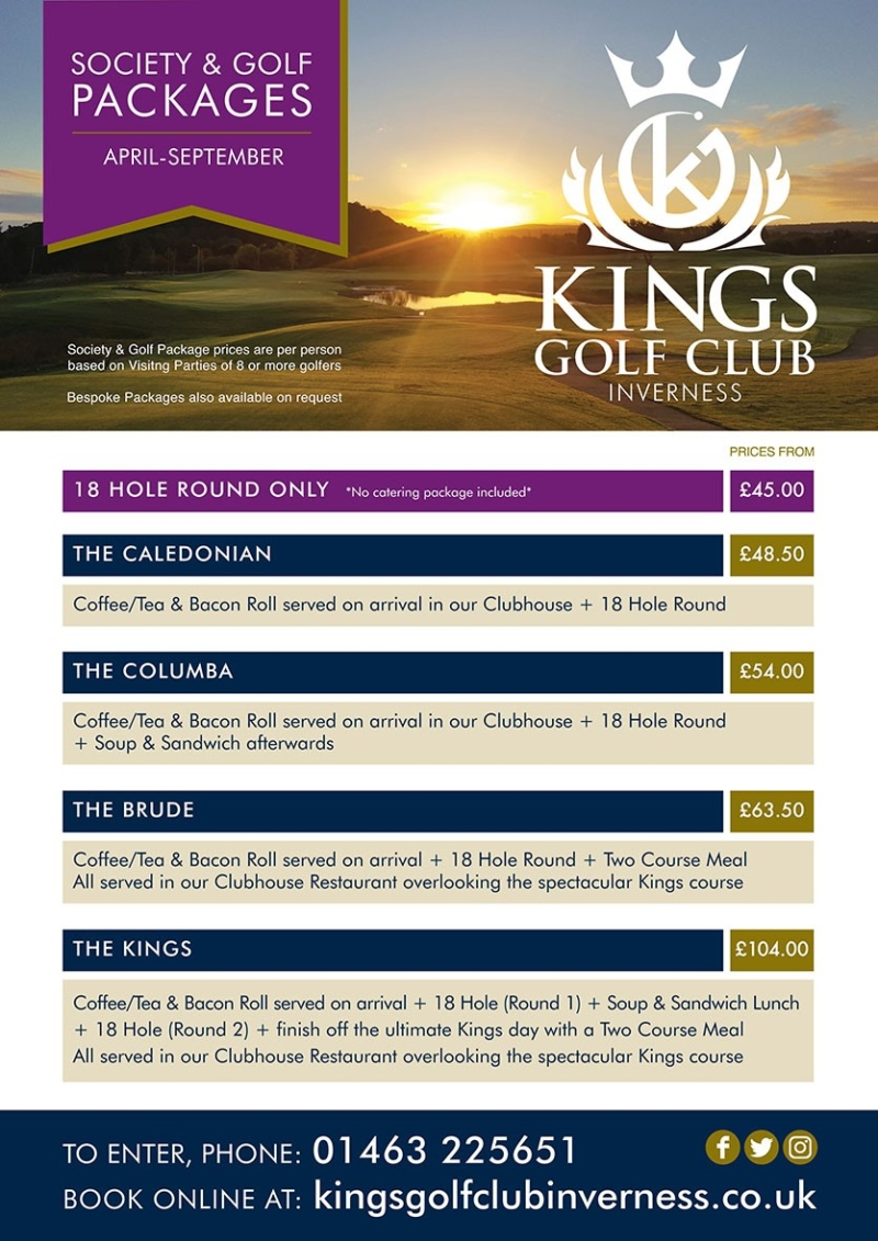 Kings Golf Club Inverness Society Bookings
